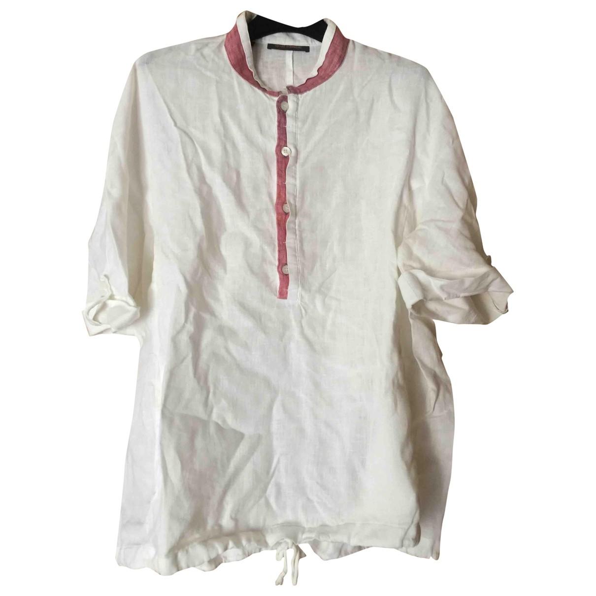 Adolfo Dominguez \N White Linen Shirts for Men M International