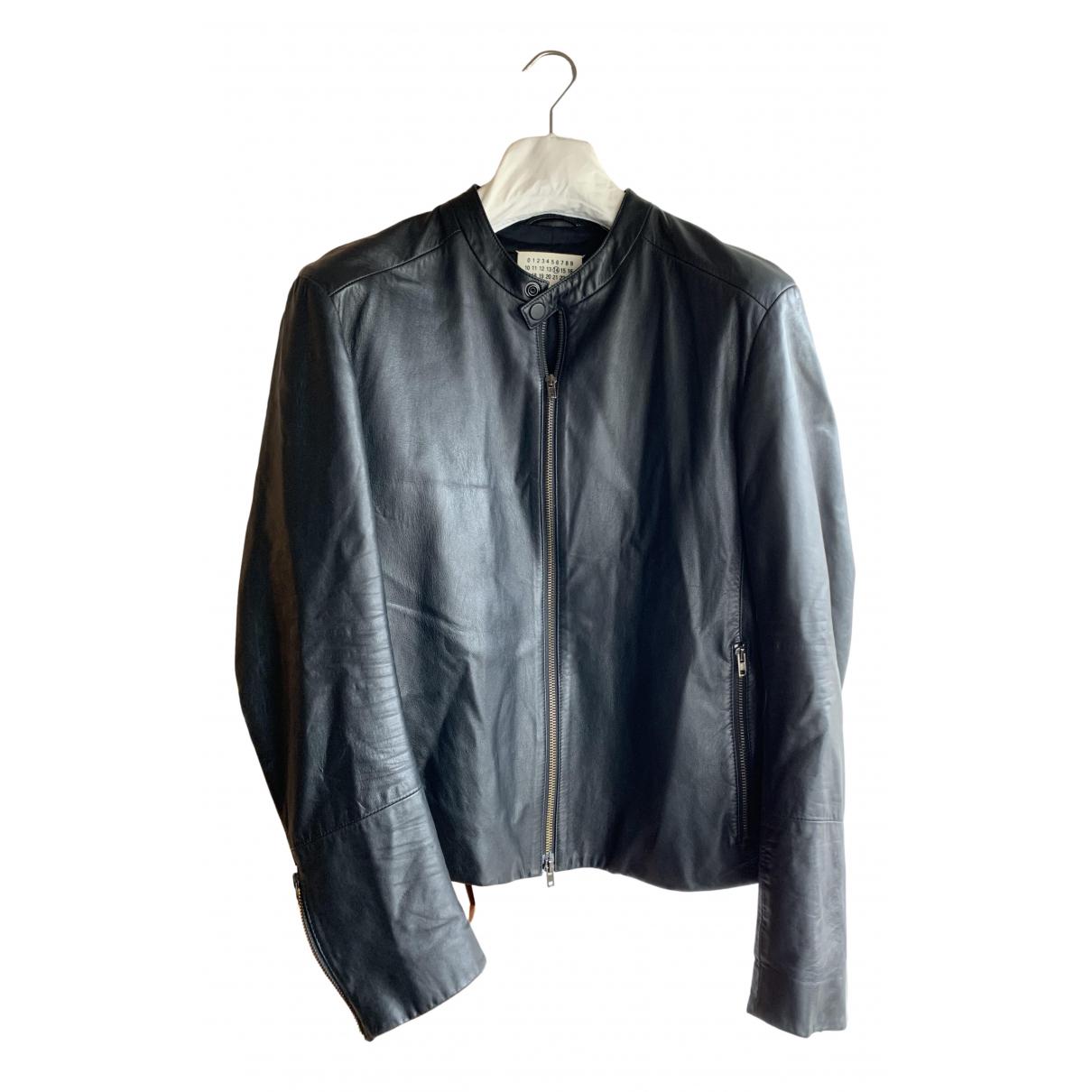 Maison Martin Margiela N Black Leather coat  for Men M International
