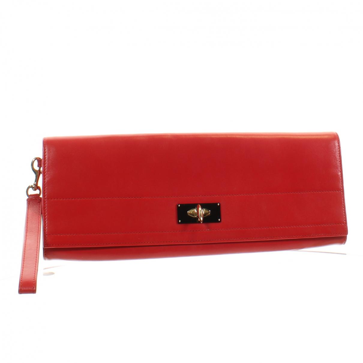 Givenchy \N Clutch in  Rot Leder