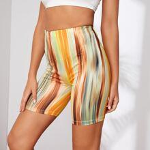 Leggings Shorts mit Batik
