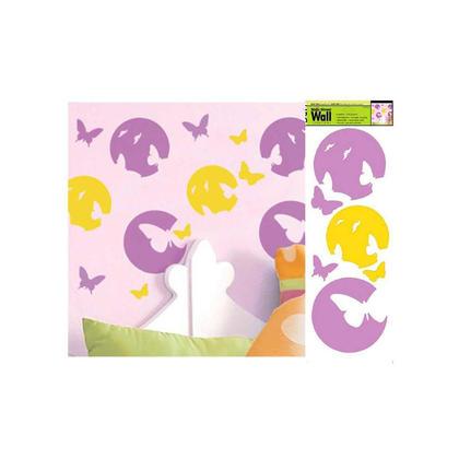 Silhouettes de papillons colorés pour les installations d'art mural dans le salon et la chambre