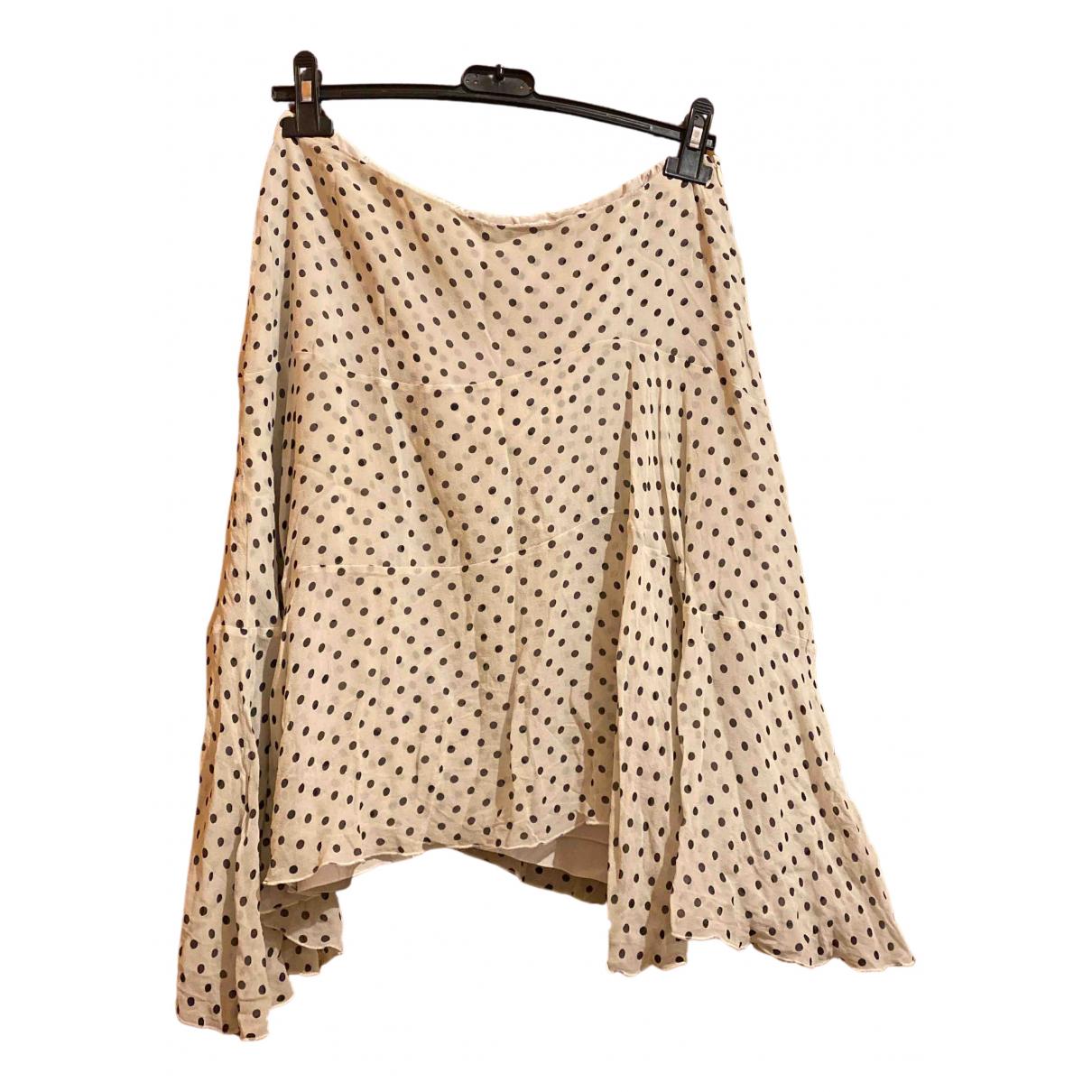 Max Mara N Beige Silk skirt for Women 36 FR