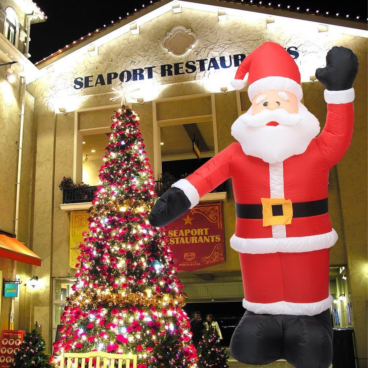 Large Inflatable Santa Snowman Outdoor Airblown Xmas Christmas Decoration Figure