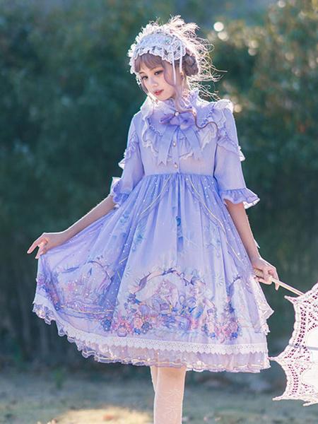 Milanoo Vestido clasico de Lolita OP Mermaid Carol Lolita Vestidos de una pieza