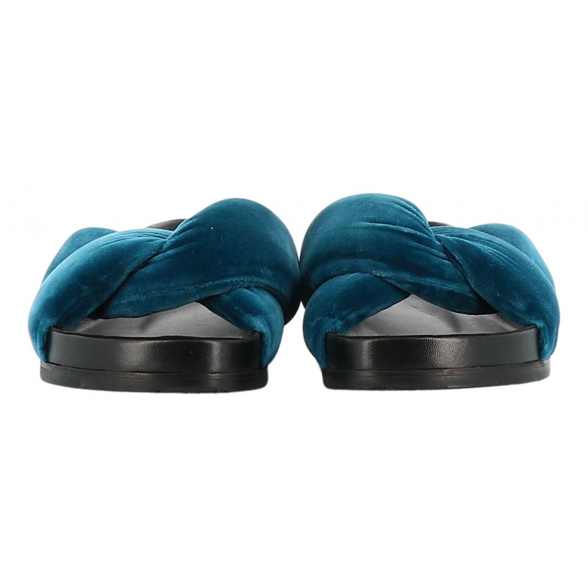 Chloé \N Blue Velvet Sandals for Women 36 EU