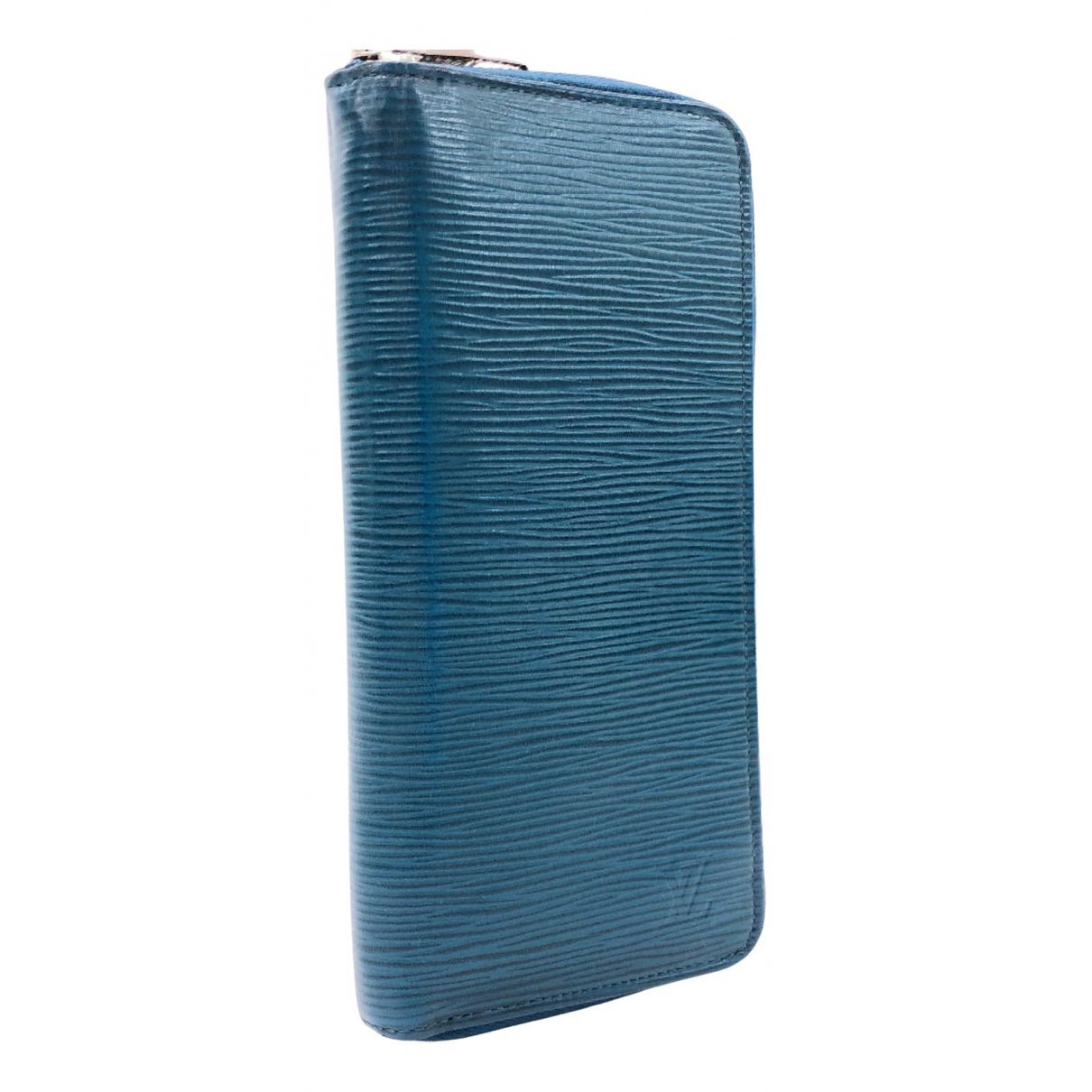 Louis Vuitton - Portefeuille Zippy pour femme en cuir - bleu