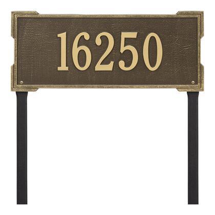 1121AB Personalized Roanoke Plaque - Estate -Lawn - 1 Line in Antique