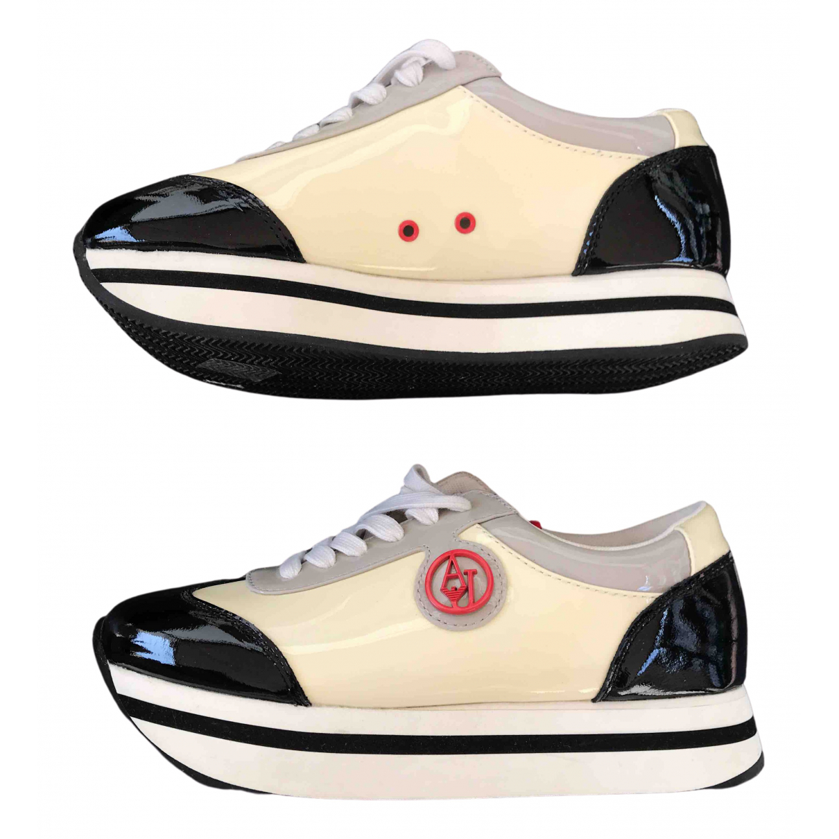 Armani Jeans N Multicolour Patent leather Trainers for Women 36 IT