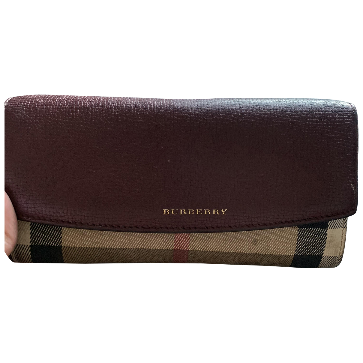 Burberry \N Burgundy Cloth wallet for Women \N