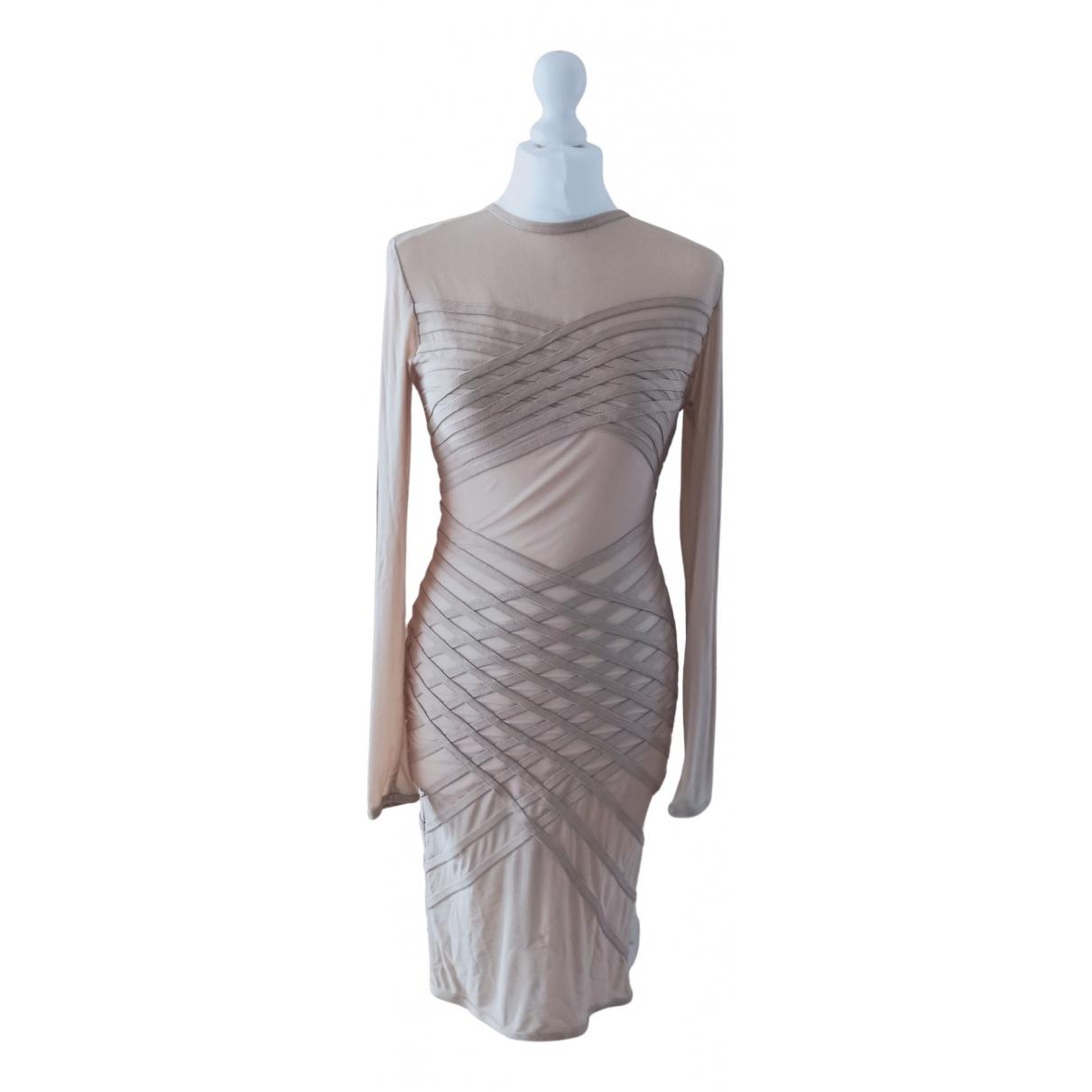 House Of Cb \N Kleid in  Beige Synthetik