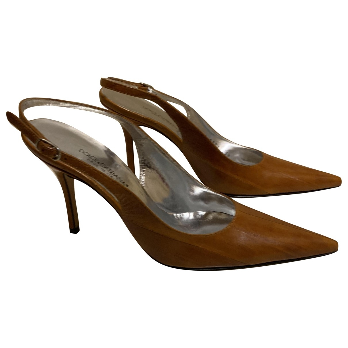 Dolce & Gabbana \N Camel Eel Heels for Women 35.5 EU
