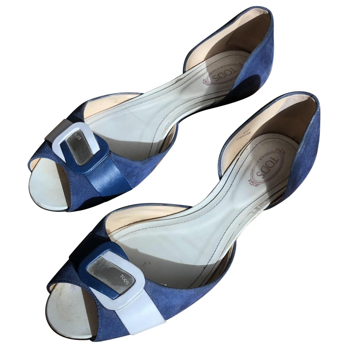 Tods - Sandales   pour femme en cuir - bleu