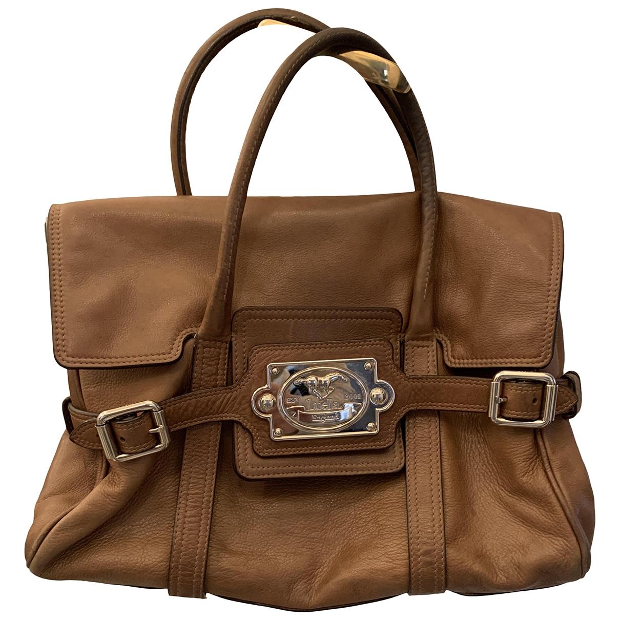 Luella \N Camel Leather handbag for Women \N