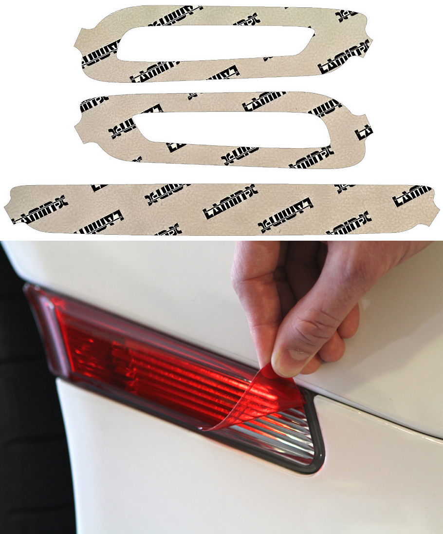 Fiat 124 Spider 17-19 Red Reverse Light Covers Lamin-X FT2604R
