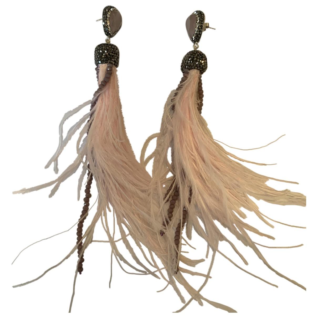 Soru - Boucles doreilles   pour femme en metal - rose