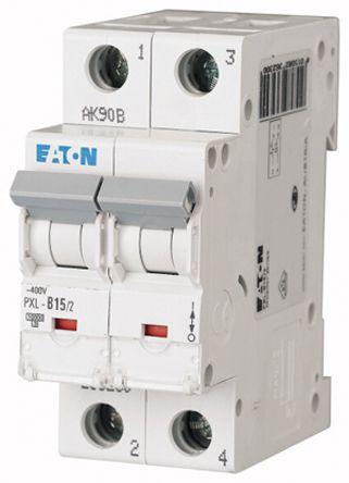 Eaton xPole 15 A MCB Mini Circuit Breaker, 2P Curve B