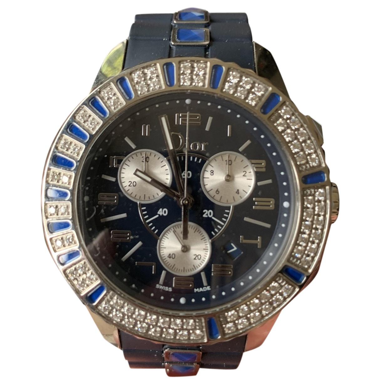 Dior Christal Chronographe Uhr in  Blau Stahl