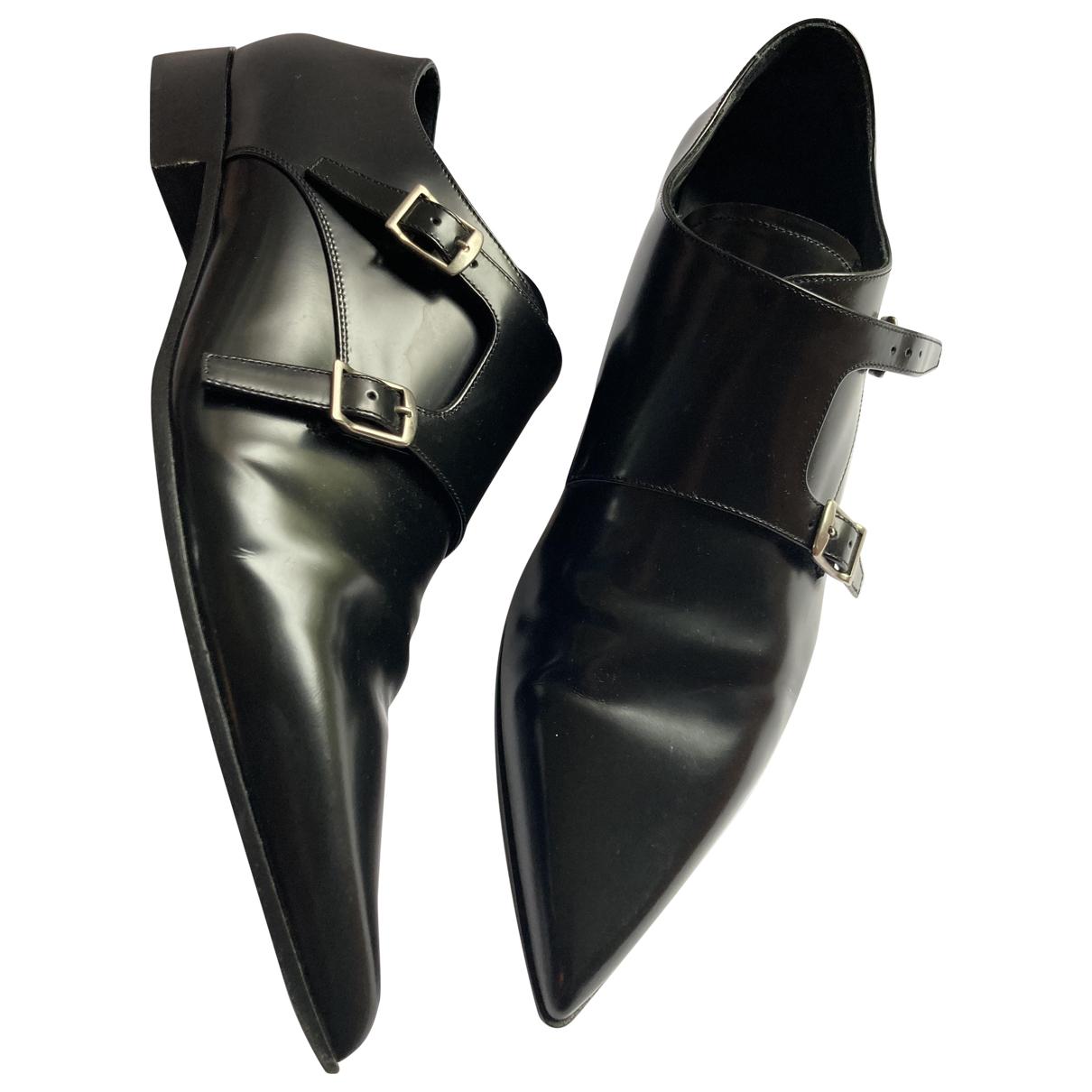 Dior \N Schnuerschuhe in  Schwarz Leder