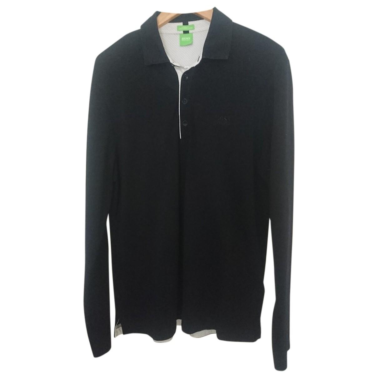 Hugo Boss - Polos   pour homme en coton - noir