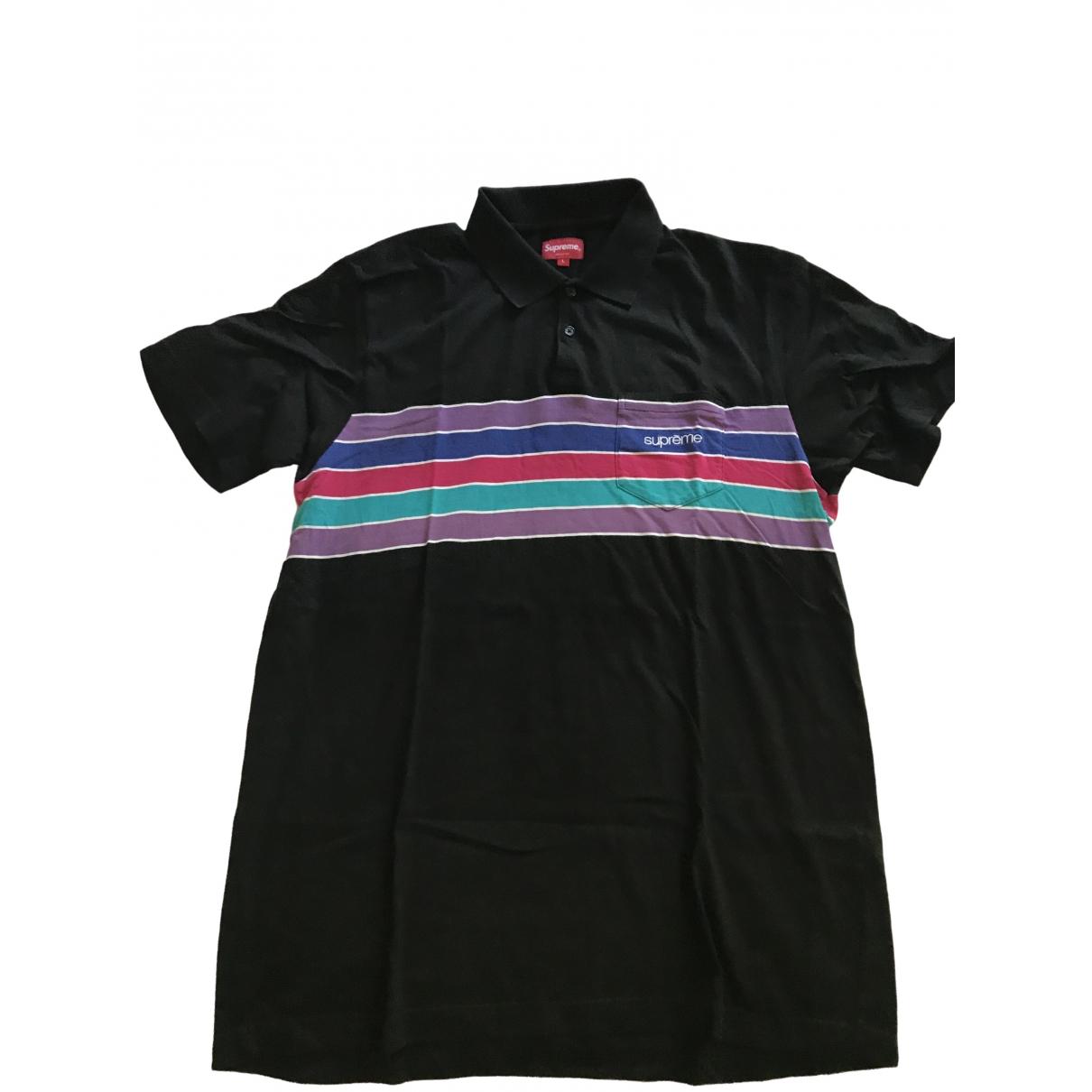 Supreme \N Black Cotton Polo shirts for Men L International