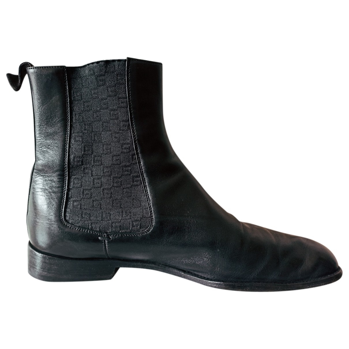 Gucci \N Black Leather Boots for Men 43 EU
