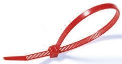 HellermannTyton , VB80 Series Red Nylon Cable Tie, 390mm x 4.7 mm