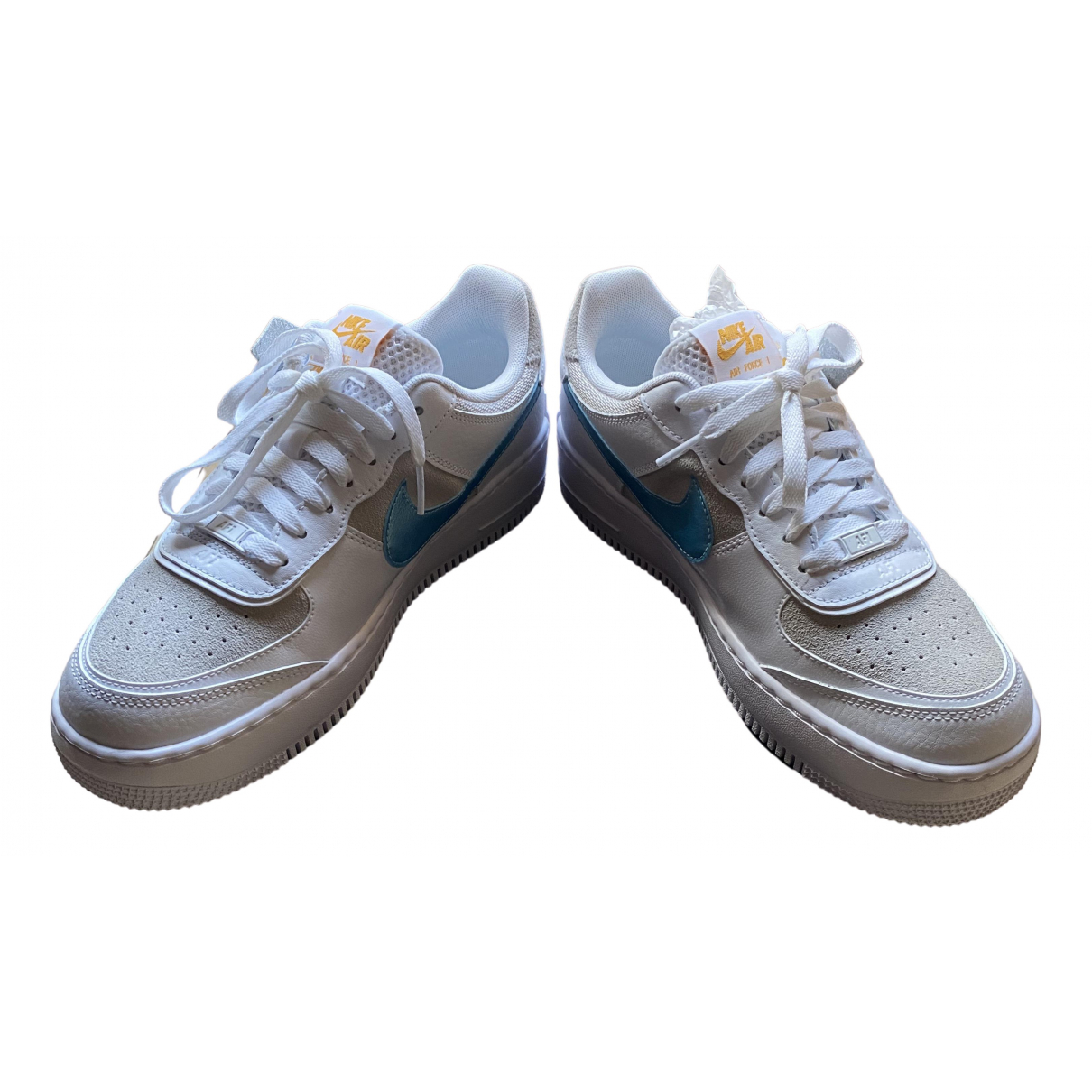 Nike Air Force 1 White Leather Trainers for Women 7 UK
