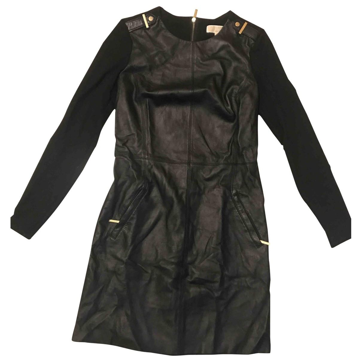 Michael Kors \N Kleid in  Schwarz Leder