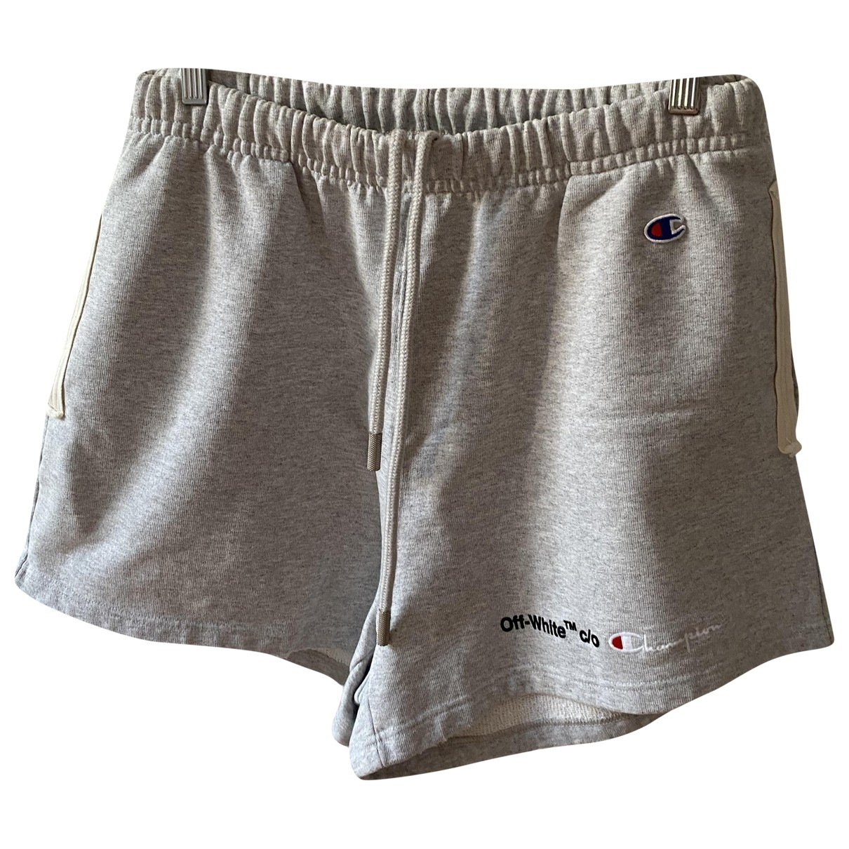 Off-white \N Grey Cotton Shorts for Men XS International