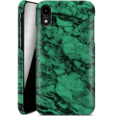 Apple iPhone XR Smartphone Huelle - Green Marble von caseable Designs