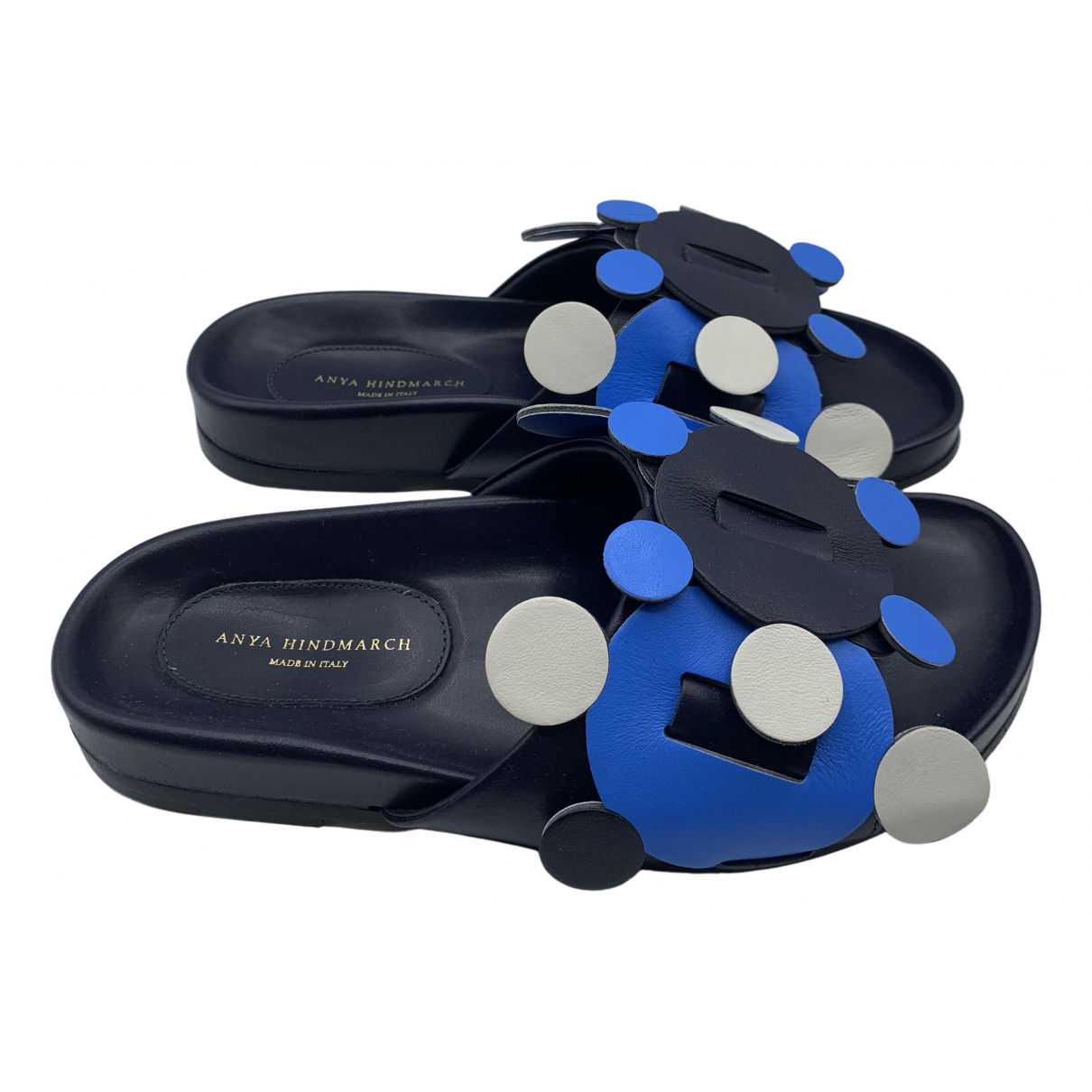 Anya Hindmarch N Navy Leather Sandals for Women 35 EU