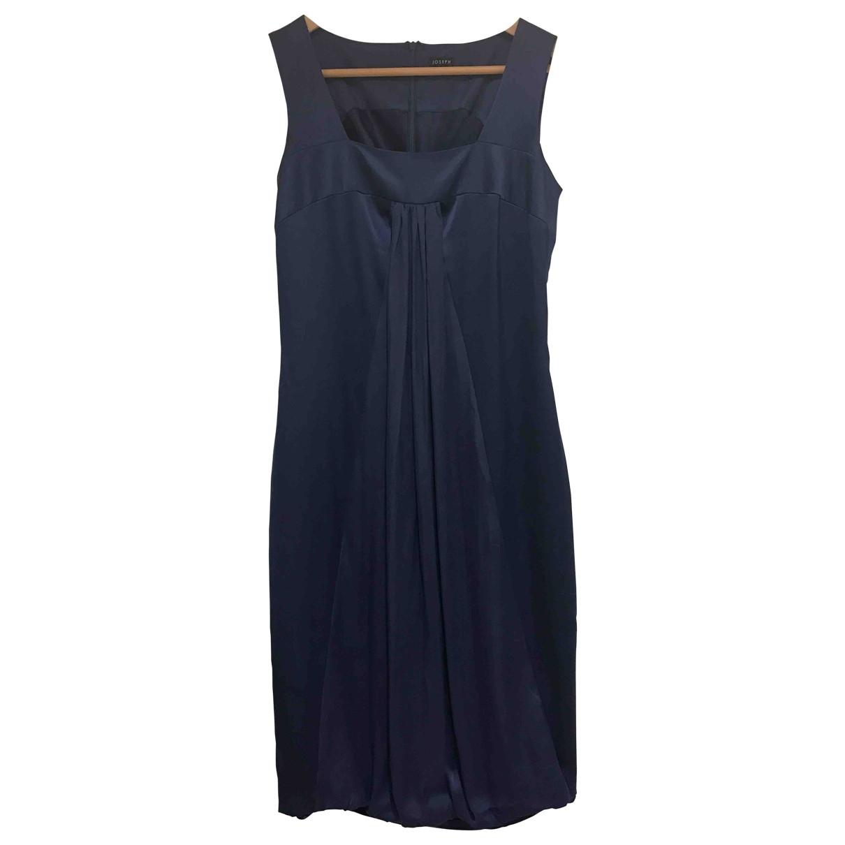 Joseph - Robe   pour femme en soie - bleu