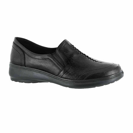 Easy Street Womens Ultimate Slip-On Shoe, 9 Wide, Black