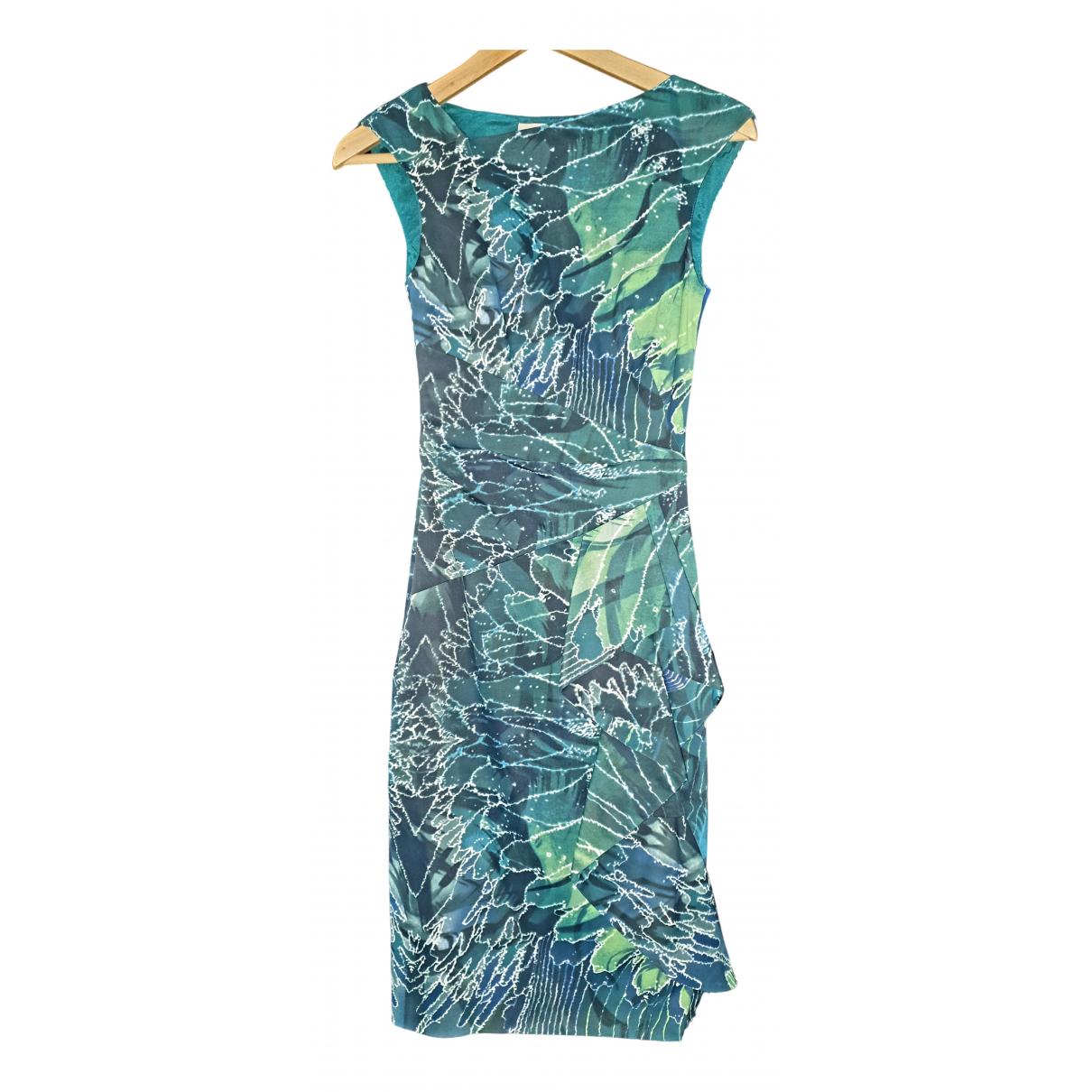 Karen Millen - Robe   pour femme en coton - elasthane - vert