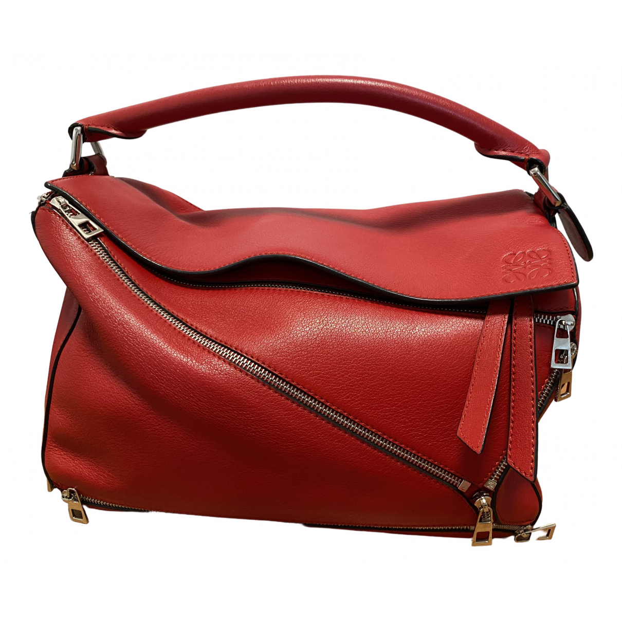Loewe Puzzle  Red Leather handbag for Women \N