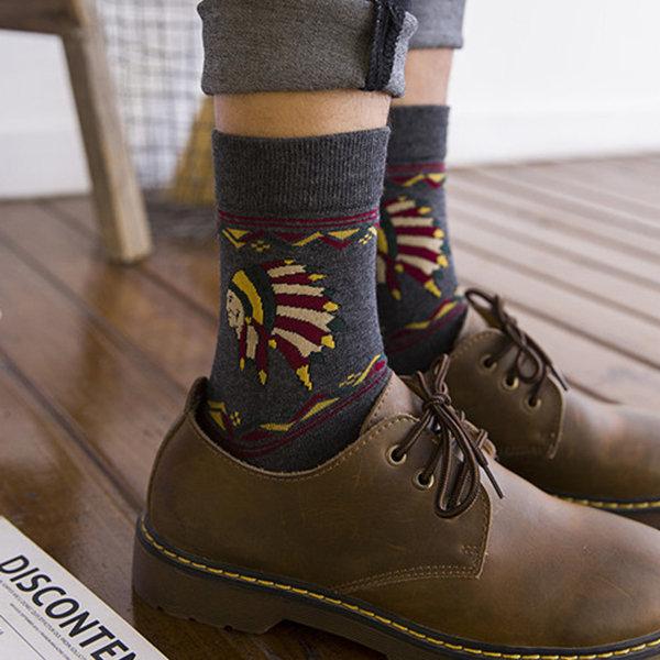Mens Retro Art Oil Painting Socks Cotton Breathable Funny Socks Tube socks