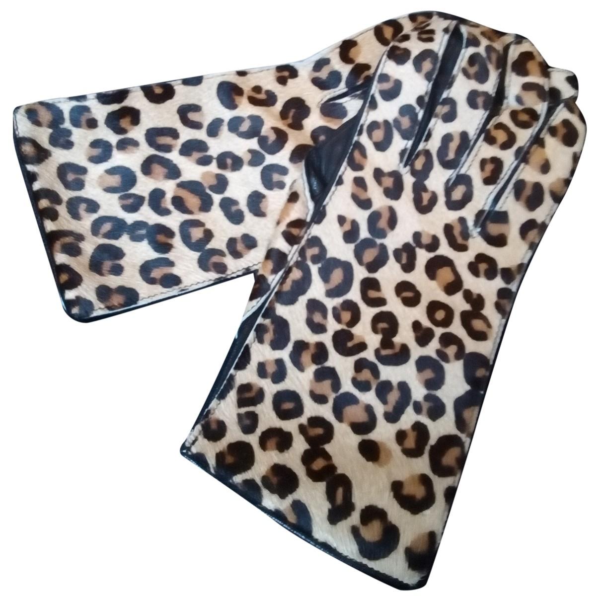 Alaia \N Handschuhe in  Bunt Leder