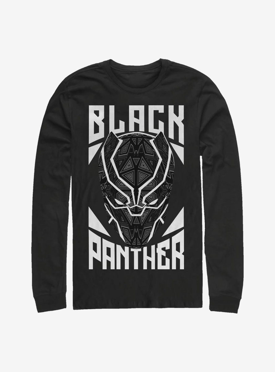 Marvel Black Panther Stamp Long-Sleeve T-Shirt