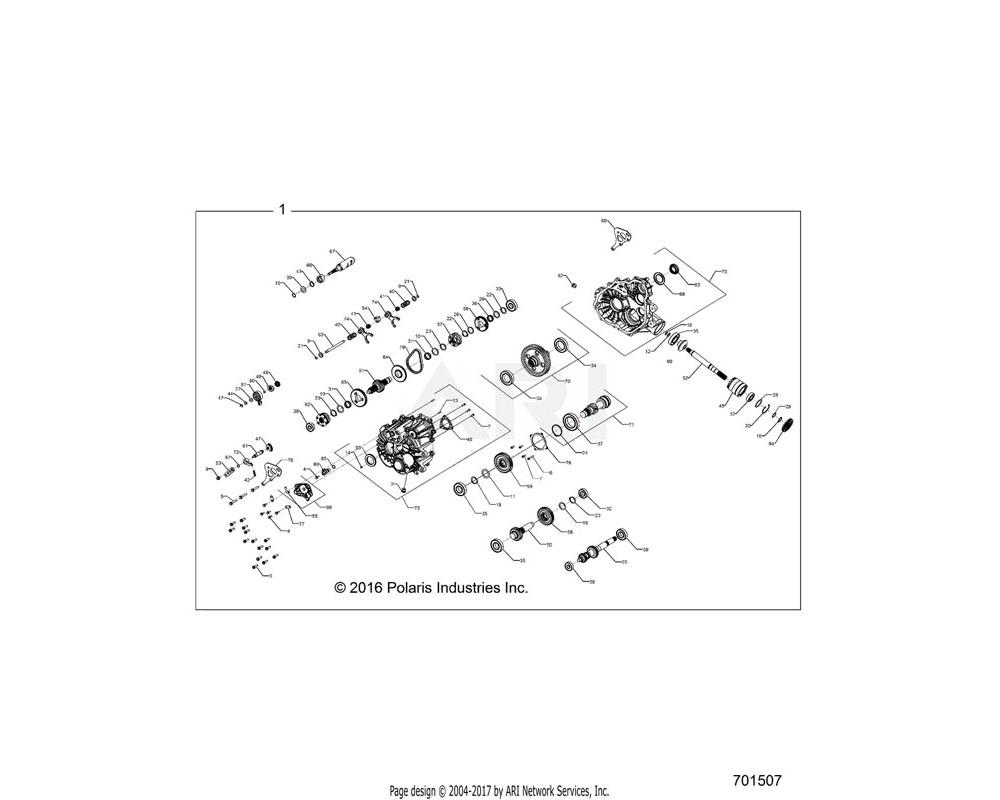 Polaris OEM 3235996 SUBASSEMBLY, RH COVER
