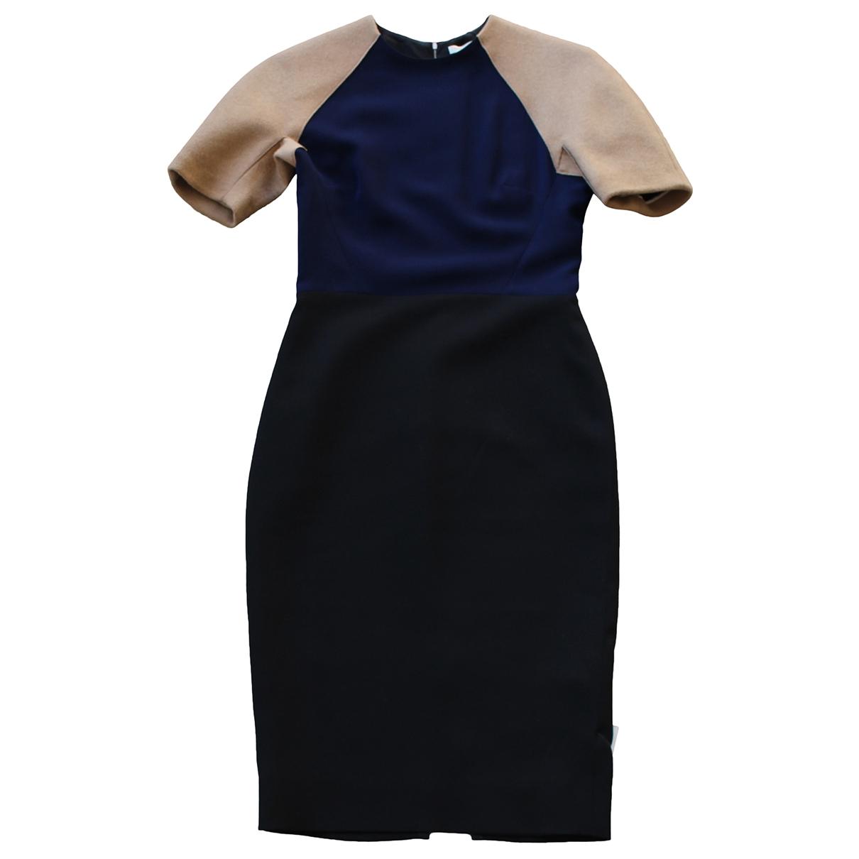 Victoria Beckham \N Blue Wool dress for Women 14 UK
