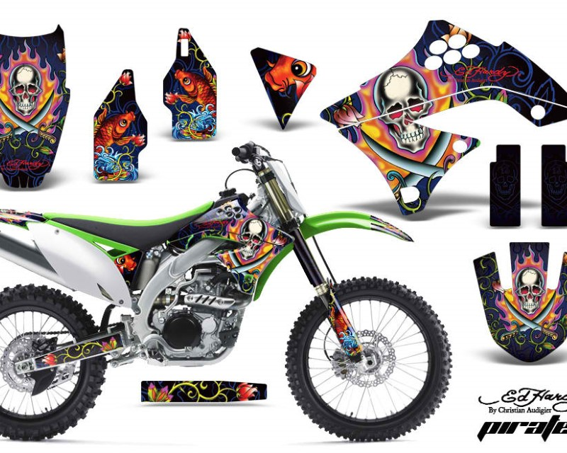 AMR Racing Dirt Bike Decal Graphics Kit Sticker Wrap For Kawasaki KXF450 2009-2011áEDHP BLUE