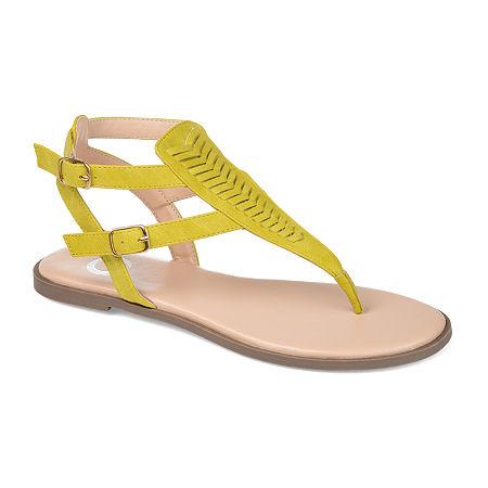 Journee Collection Womens Harmony Flat Sandals, 6 Medium, Green
