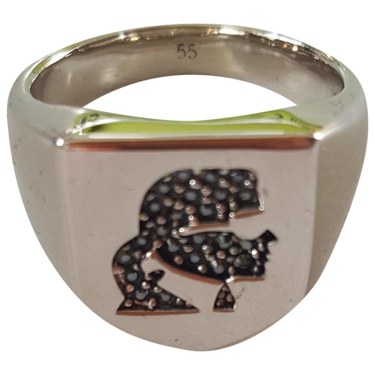 Karl Lagerfeld \N Silver Steel Jewellery for Men \N