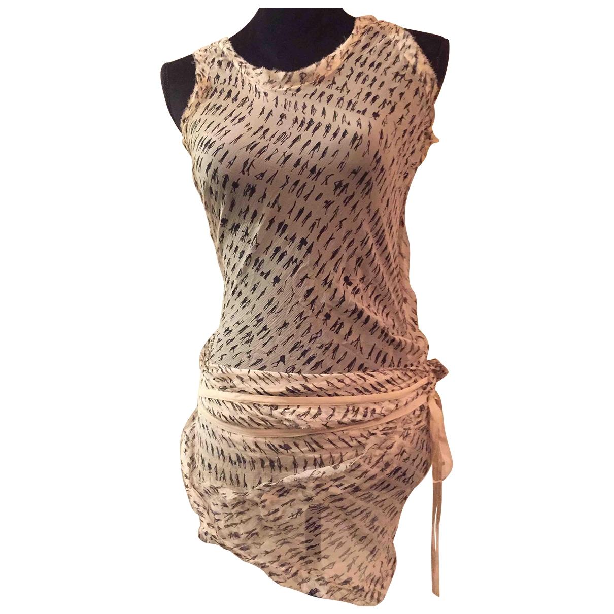 Donna Karan - Top   pour femme en soie - beige
