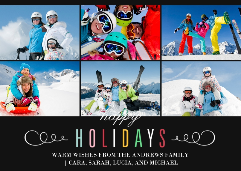 Holiday Photo Cards 5x7 Cards, Premium Cardstock 120lb with Rounded Corners, Card & Stationery -Multi-colored Holidays