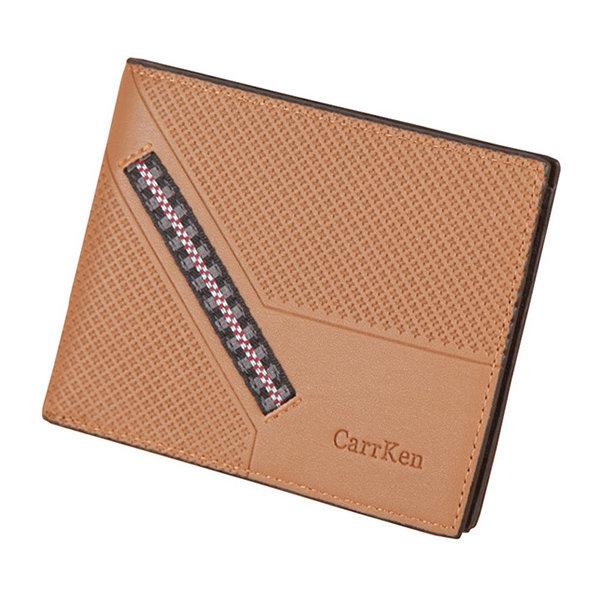 Men PU Leather 8 Card Slot Short Wallet Casual Wallet
