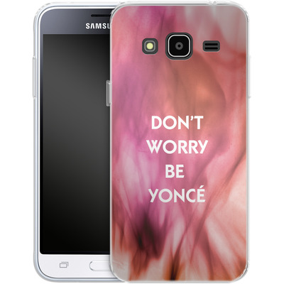 Samsung Galaxy J3 (2016) Silikon Handyhuelle - Dont Worry Be Yonce von Statements