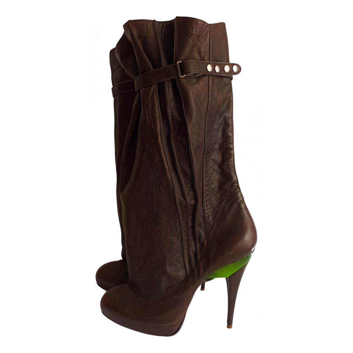 Diesel \N Brown Leather Heels for Women 40 EU