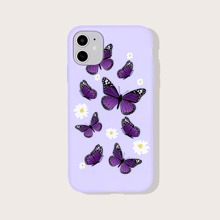 1 Stueck iPhone Huelle mit Schmetterlilng Muster