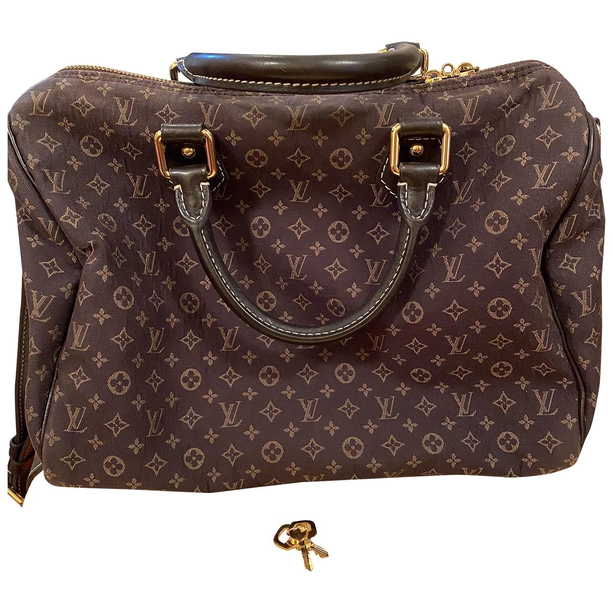 Louis Vuitton Speedy Handtasche in  Grau Leinen